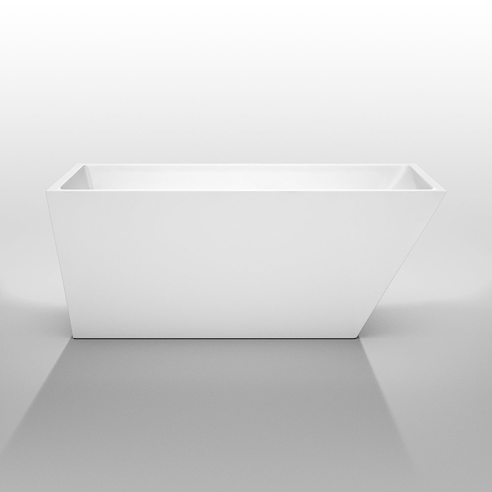 Wyndham Collection Hannah 59 Inch Freestanding Bathtub For Bathroom In  White With Polished Chrome Drain And Overflow Trim   Freestanding Bathtubs    Amazon. ...