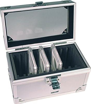 50 Certified Slab Coin Aluminum Storage Box Blue