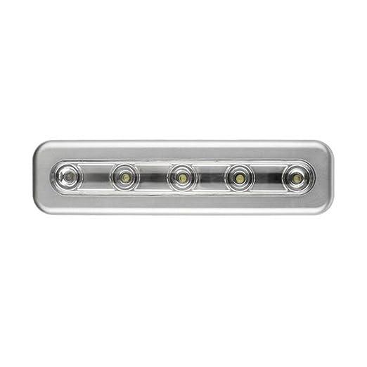 LEDMOMO Lámpara de Barra LED Luces de Sensor de Movimiento con Batería de 5 Luces Debajo