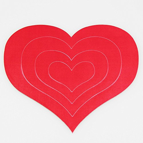 Cute Soft Magnetic Red Colour Heart Photo Frame And Picture Frame Diy Album For The Wall Of Marcos De Fotos Porta (Fotos Do Halloween)