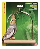 Living World Cockatiel Swing with Wooden Perch, 5 1/2-Inch by 7-Inch
