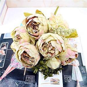 Gotian 1 Bouquet Vintage Artificial Peony Silk Flowers Bouquet for Wedding Party Home Decor 3