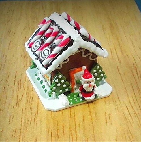 Miniature Santa Candy Gingerbread House