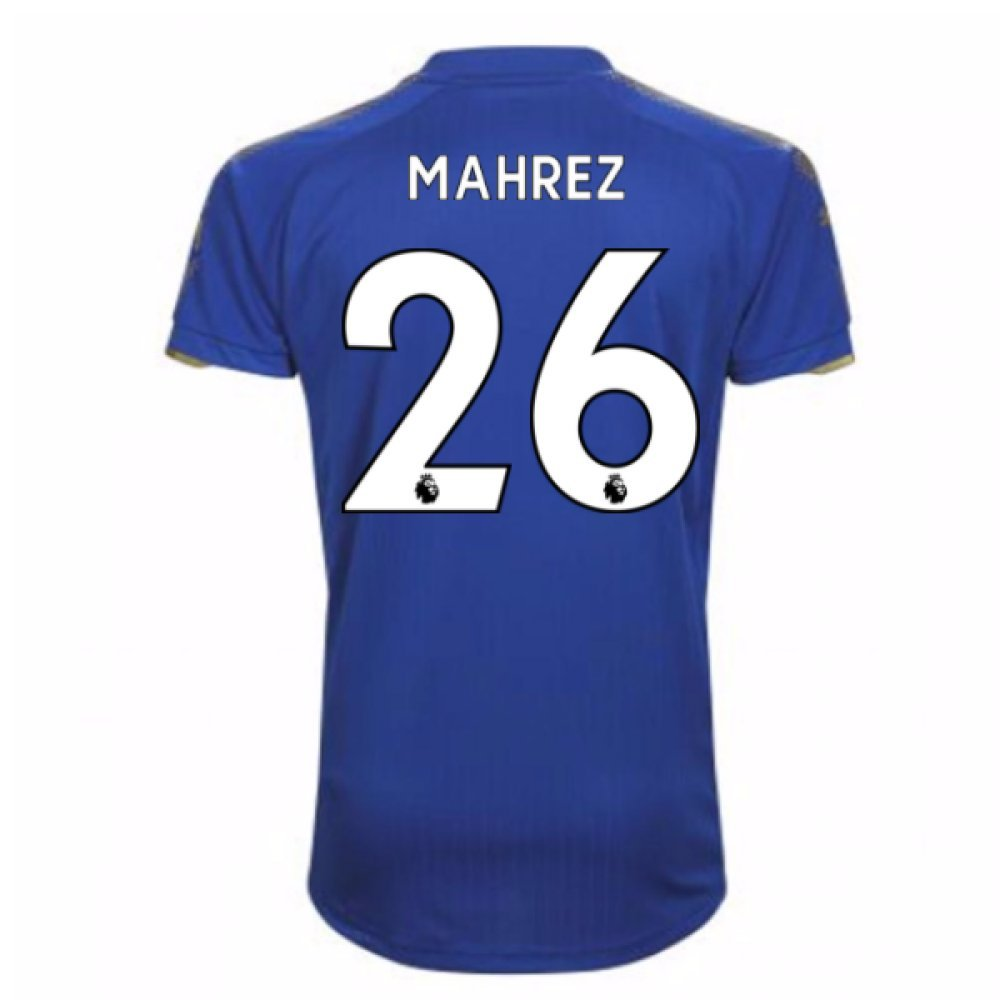 2017-18 Leicester City Home Football Soccer T-Shirt Trikot (Riyad Mahrez 26)