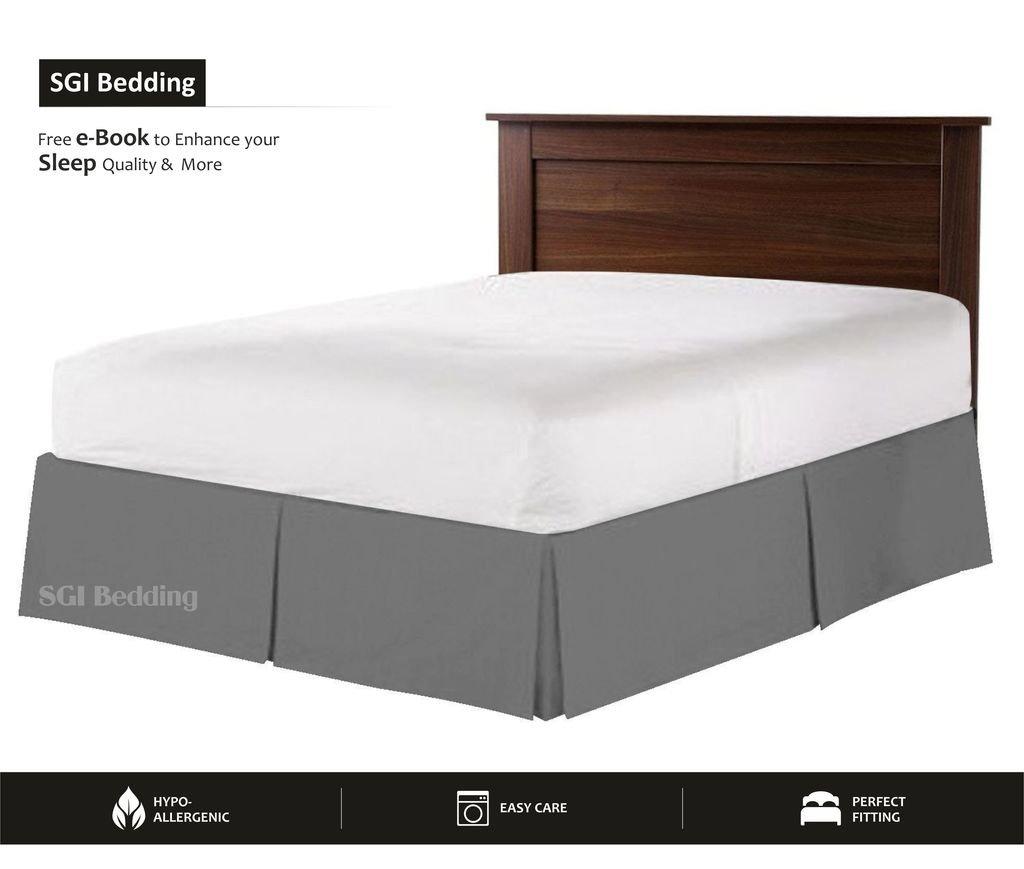 550 TCエジプト綿寝具ベッドスカート1 x 17