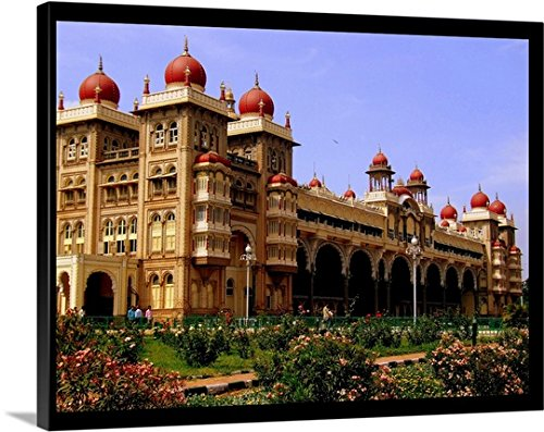 Canvas on Demand Premium Thick-Wrap Canvas Wall Art Print entitled Mysore Palace 24
