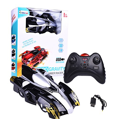 Wall Climbing Zero Gravity Remote Control Racer Vehicle Drive Up Any Smooth Surface, Boy's Birthday Party Gift Electrical RC Black Driving Car (Instruction Guide (Boys Birthday Gifts)