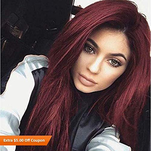 Lace Wig kanekal Fiber Wine Red 26