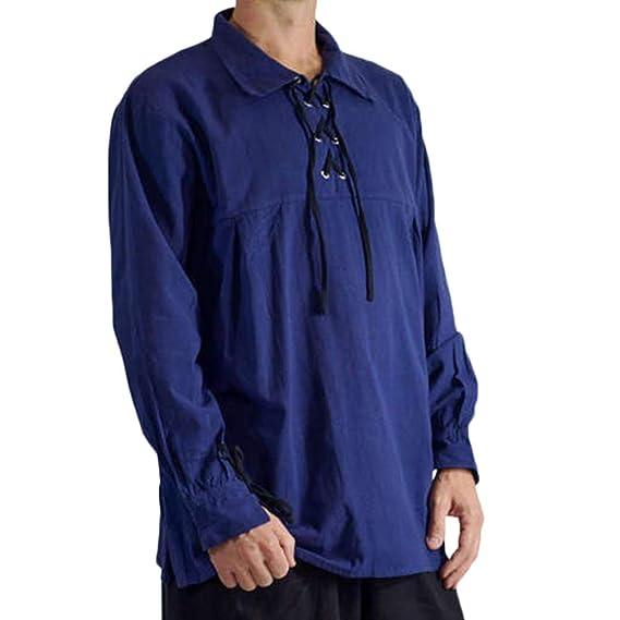 Camisa La Solapa Renacentista Medieval para Hombres Disfraz De ...