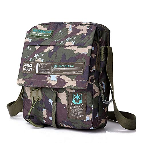 Multifunction Bags Waterproof Camouflage Tactical Handbag Travel Zhrui Bag Green Shoulder Casual Crossbody Mens Small Cloth Nylon FqxT4z