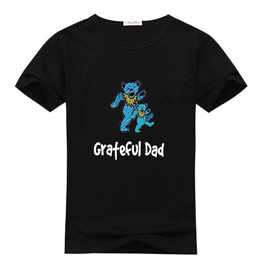 0da8058a0 Grateful Dad Men's Custom Print Classic Cotton T-Shirt XXX-Large Black