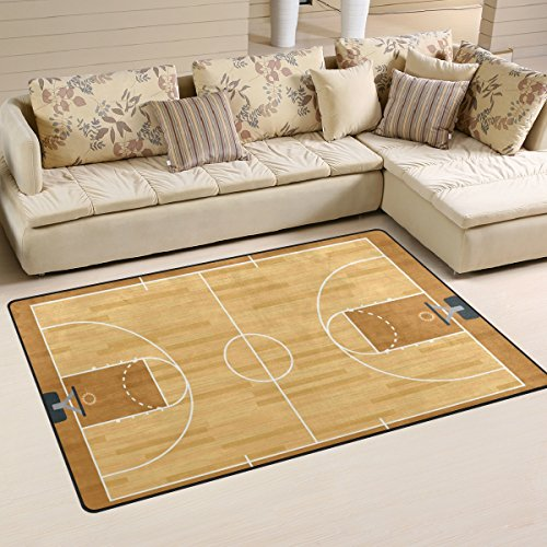 - Sunlome Realistic Basketball Court Pattern Area Rug Rugs Non-Slip Indoor Outdoor Floor Mat Doormats for Home Decor 31 x 20 Inches