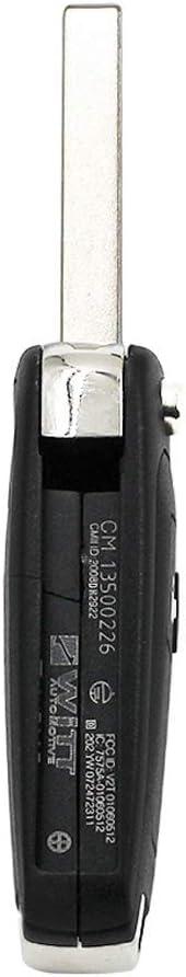 Hkgk 2 Button Car Remote Flip Key Shell Replacement Fob Case For Opel//Vauxhall Adam Astra J Insignia Mokka Zafira C Key Repair Kit