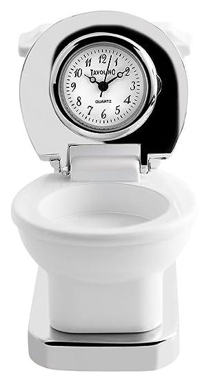 Reloj miniatura, reloj miniatura - WC - Reloj de mesa, transporte reloj, chimenea: Amazon.es: Relojes