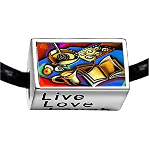 Chicforest Silver Plated Disorder Desktop Photo Live Love Laugh Charm Beads Fits Pandora Charms