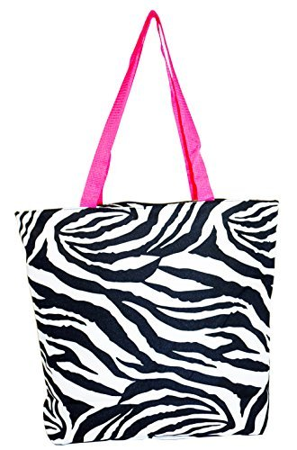 - Ever Moda Zebra Tote Bag (Pink)