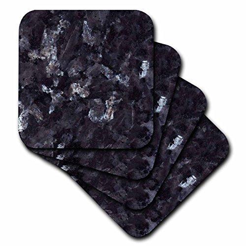 3dRose cst_97938_4 Blue Pearl Granite-Ceramic Tile Coaste...