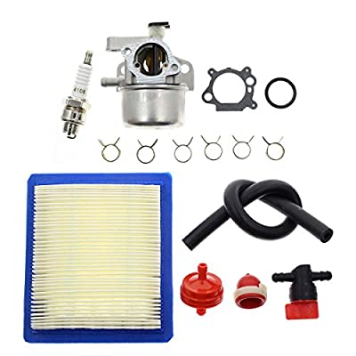 "Carbhub Carburetor for Briggs & Stratton 799866 790845 799871 796707 794304 12H800 Engine Toro Craftsman Lawn Mower Carb Toro 22"" Recycler with Air Filter Spark Plug Primer Bulb"