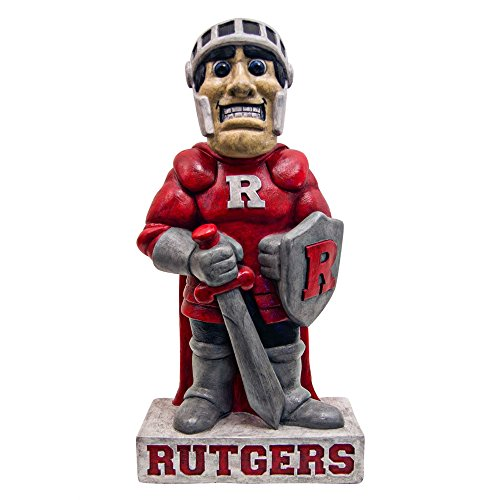Rutgers Scarlet Knights NCAA ''Scarlet Knight'' College Mascot 21.5in Full Color Statue by Stone Mascots