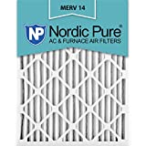 Nordic Pure 12x20x2 MERV 14 Pleated AC Furnace Air Filters, 12x20x2, 3 Piece