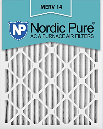 Nordic Pure 16x25x2M14-3 Pleated AC Furnace Air Filter, Box of 3