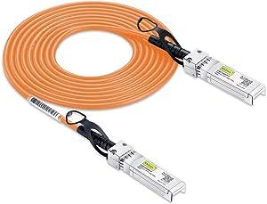 [Orange] Colored 10G SFP+ DAC Cable - Twinax SFP Cable for Cisco SFP-H10GB-CU2M, Ubiquiti, D-Link, Supermicro, Netgear, Mikrotik, ZTE Devices, 2-Meter(6.5ft)