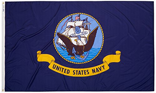 Annin Flagmakers Model 601 U.S. Navy Military Flag Nylon SolarGuard NYL-Glo, 5x8 ft, 100% Made in USA Specifications. Officially Licensed ()