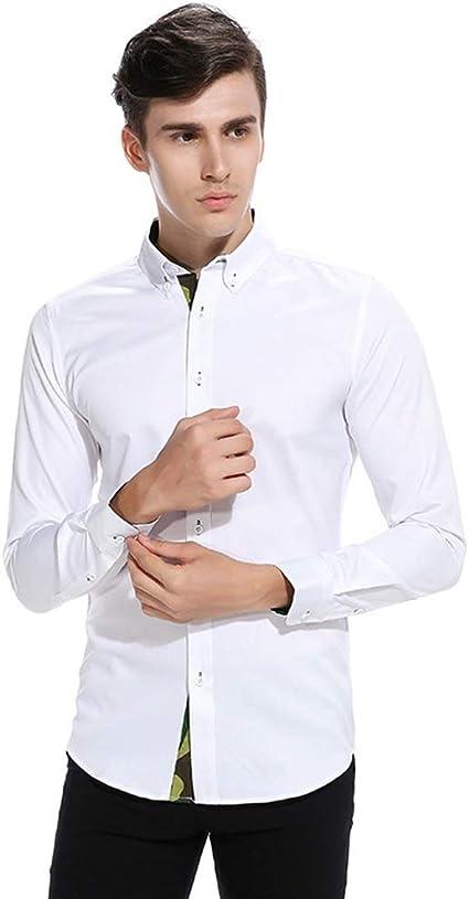 Camisa de Vestir Slim fit para Hombre Camisa de los Hombres ...