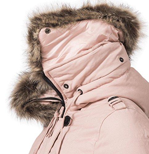 Pauline Rose Xs Avec D'hiver Pour Un Matelassé Navahoo Manteau Long Couleurs 6 Femme Large xxl d6gqfR7w