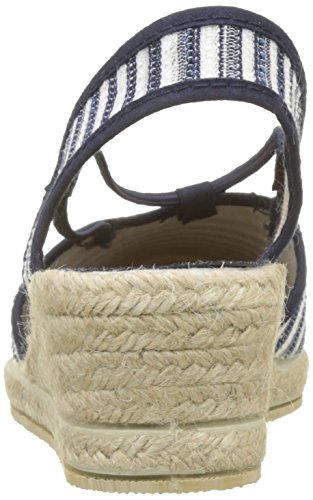 Rondinaud Women's Combade Closed Toe Sandals Blue (Marine 12) yGt0KW0L
