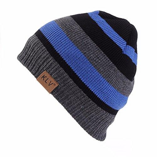 GOVOW Women Winter Warm Cuffed Plain Beanie Knit Hat Wool Snow Ski Caps with Visor