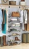 Whitmor 6 Shelf Closet System, Silver