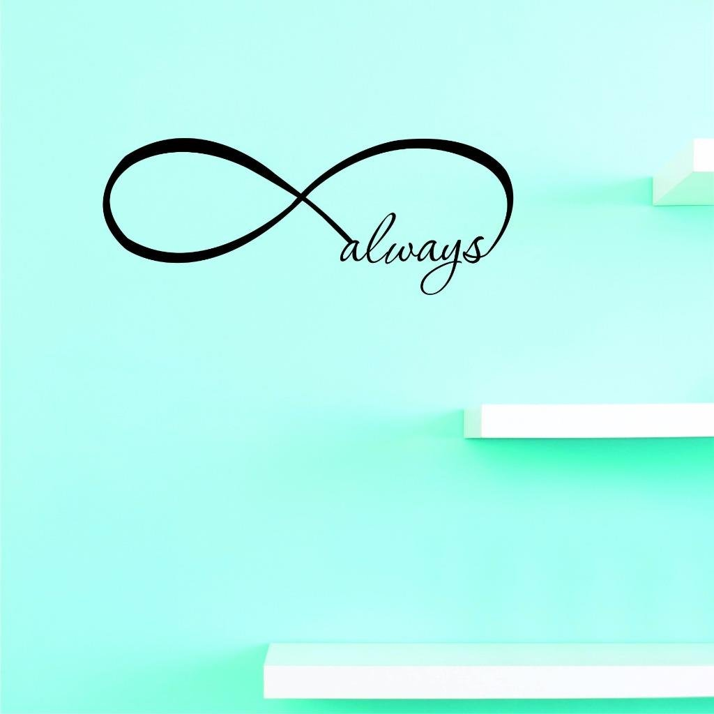 Black 12 x 30 Design with Vinyl US V JER 3477 2 Top Selling Decals Infinity Always Wall Art Size 12 Inches X 30 Inches Color