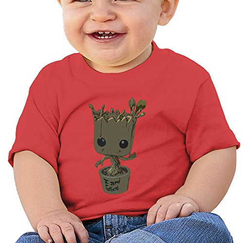 Price comparison product image NUBIA Toddler Guardians Baby Groot Short-Sleeve Tee Red 24 Months