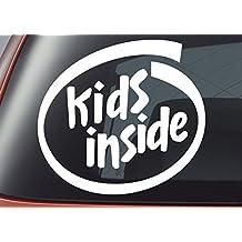 Kids Inside - Vinyl Decal - Car Window Sticker, Bumper Sticker