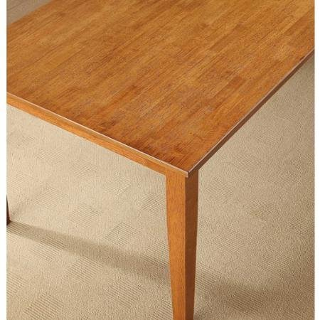 Better Homes and Gardens Bankston Brown Rectangle Honey Finish 6-Person Dining Table, 58.5''L x 35.5''W x 30''H