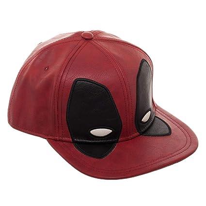 539888454447c Amazon.com  Marvel Deadpool Big Face Distressed Snapback Hat  Clothing