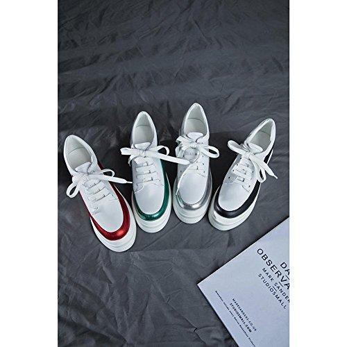 en Baskets A0422 Couture Chaussures KJJDE Creepers de Plateformes Femme GREEN WSXY Processus à nUqqOAwH