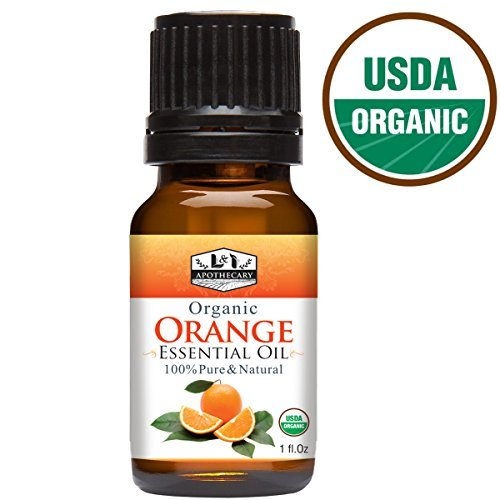 1 fl. Oz / 30 ml Organic Orange Essential Oil, USDA Certified Organic, 100% Pure, Natural, undiluted Therapeutic Grade, Refreshing Scent, Excellent for Aromatherapy