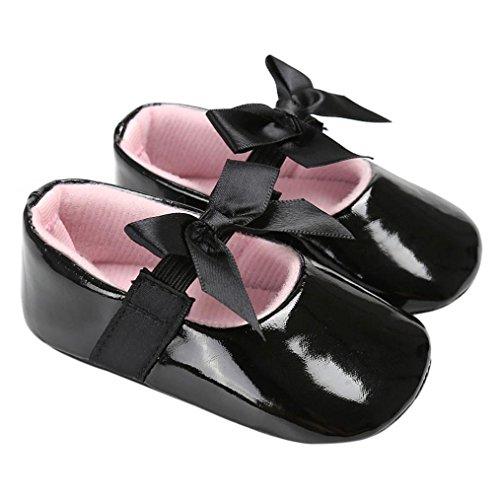 Clode® Baby Bowknot Prinzessin Soft Sole Schuhe Kleinkind Casual Schuhe Schwarz