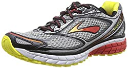 Brooks Men's Ghost 7 Shoes Silver / Black / Mars Red 11 / B