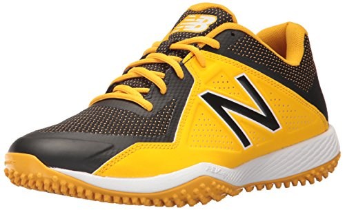 - New Balance Men's T4040v4 Turf Baseball Shoe, Black/Yellow, 10.5 D US