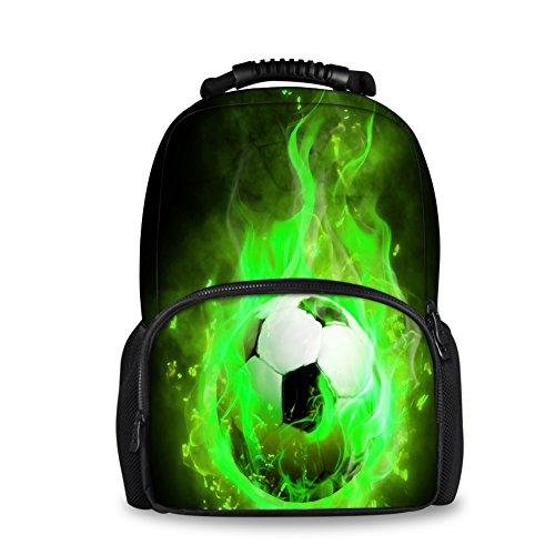 HUGS IDEA Cool Soccer Football Pattern Backpack Men Sport Travel Hilking Bagpack
