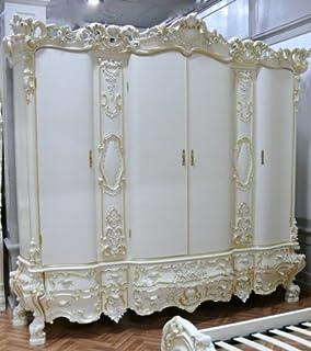 Kleiderschrank weiß barock  Barock Kleiderschrank 6türig Spiegel Schlafzimmer Antik Stil ...