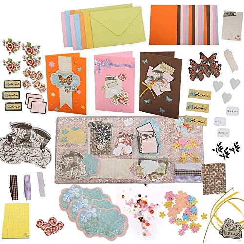 PICKME Cherish Greeting Card Making Kit | Make Your Own Cards Set with Beautiful Assortment of Art Characters & Envelopes | Perfect Gift Making Kit | Create Your Personalized Birthday & Thank You Card