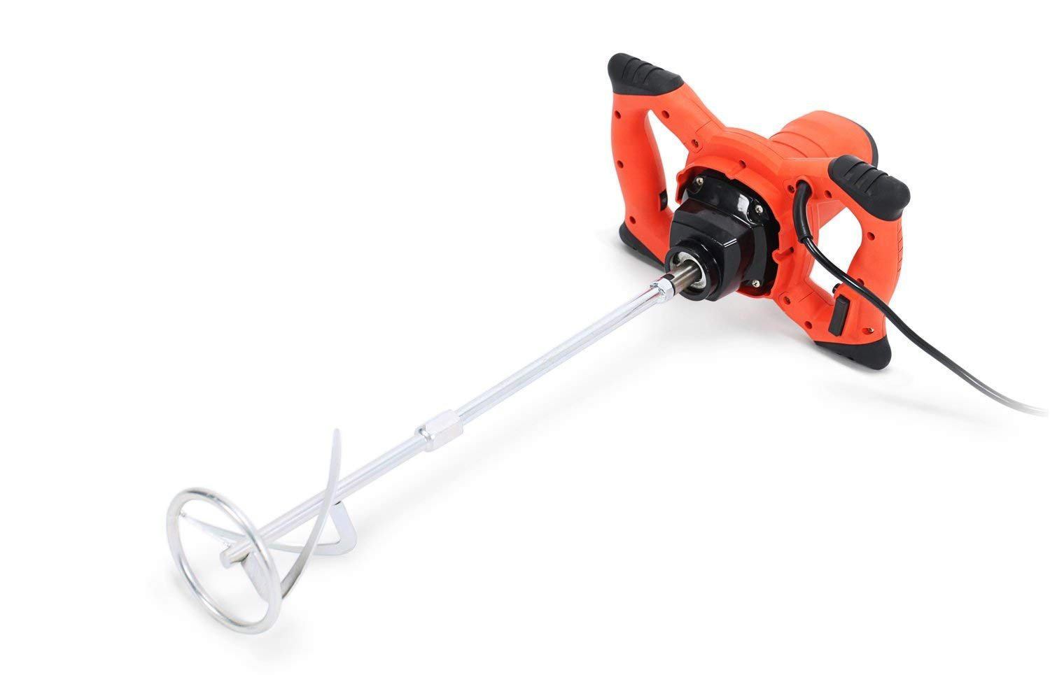 Electric Mortar Mixer 1500W Handheld Stirring Tool Dual High Low Gear Adjustable 6 Speed Paint Cement Grout 110V