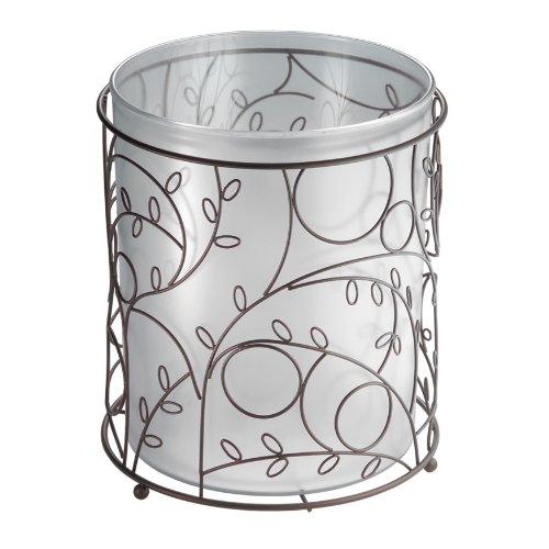 InterDesign Twigz Wastebasket Trash Bronze