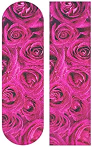 RAINBOW FISH Rose Skull Grip Tape for Skateboards Longboard Griptape 9 x 33 Skateboard Sticker Decorative Pattern