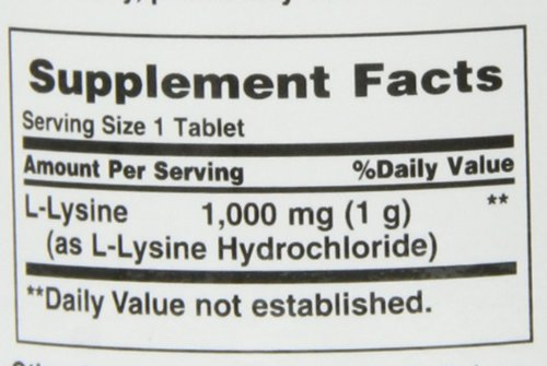 Nature's Bounty L Lysine 1000 mg, 60 Tablets (Pack of 3)