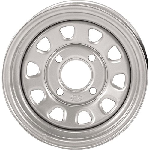 ITP Delta Steel Wheel - 12x7 - 4+3 Offset - 4/156 - Silver , Wheel Rim Size: 12x7, Rim Offset: 4+3, Color: Silver, Bolt Pattern: 4/156, Position: Front/Rear D12T156 ()
